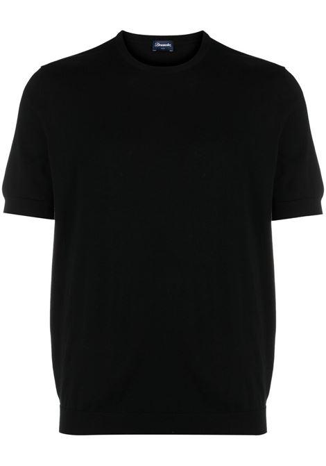 Black t-shirt DRUMOHR | T-SHIRT | D0GN100690