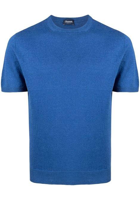 Blue t-shirt DRUMOHR | T-SHIRT | D1LN100T730