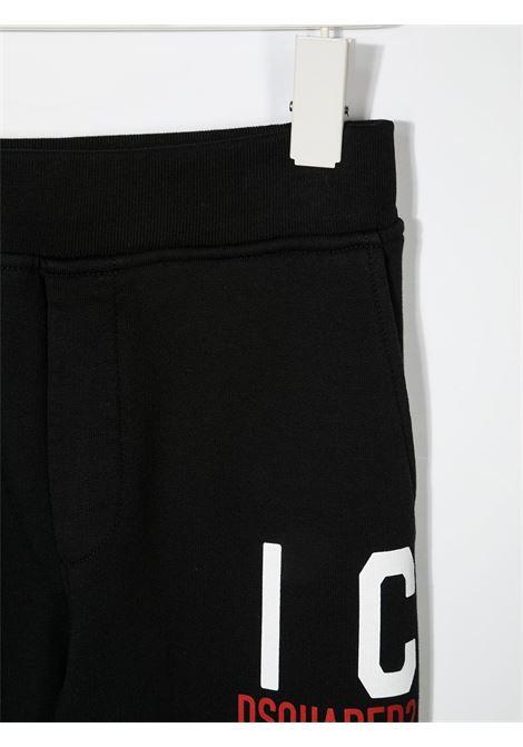 Pantalone nero DSQUARED ICON KIDS | PANTALONI | DQ0248D002YD2P354UDQ900