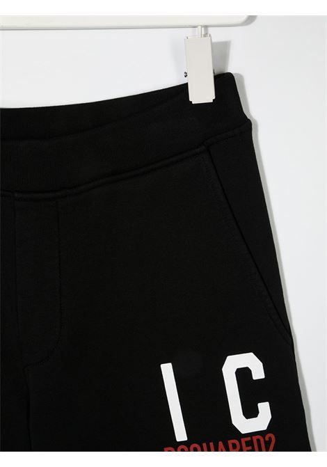 Shorts nero DSQUARED ICON KIDS | SHORTS | DQ0250D002YTD2P355UDQ900