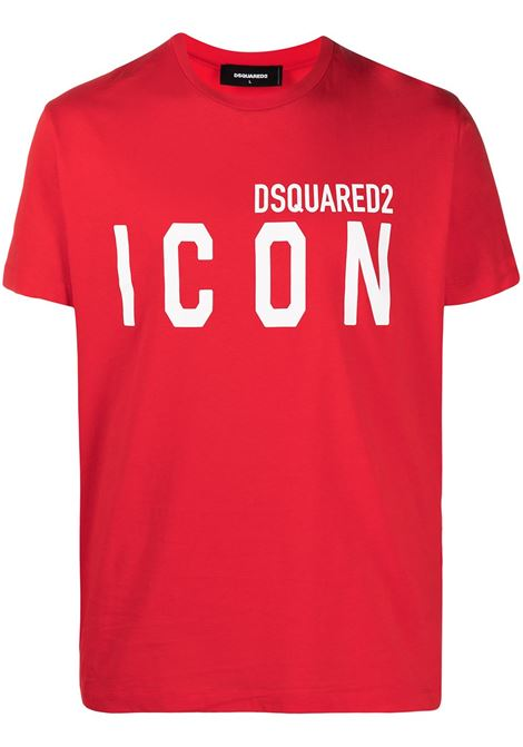 T-shirt rossa DSQUARED ICON | T-SHIRT | S79GC0003S23009312