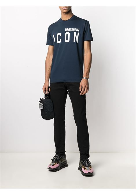 T-shirt blu DSQUARED ICON | T-SHIRT | S79GC0003S23009985