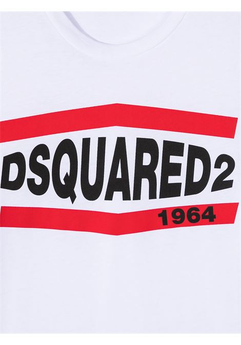 T-shirt bianca DSQUARED KIDS | T-SHIRT | DQ0150D002FD2T627MDQ100