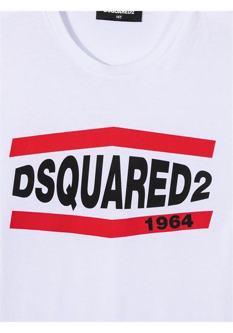 T-shirt bianca DSQUARED KIDS | T-SHIRT | DQ0150D002FTD2T627MDQ100
