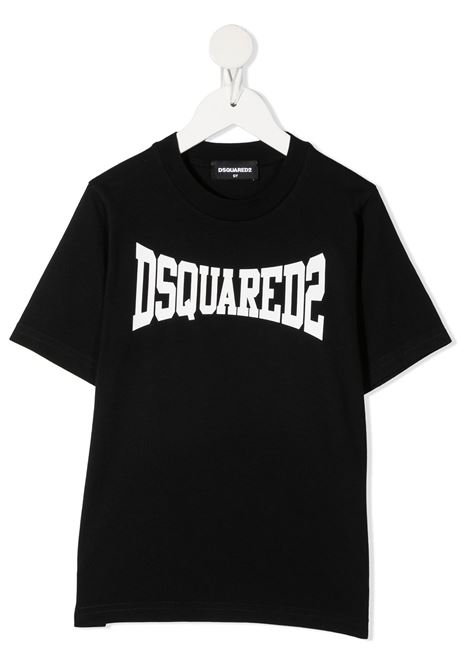 T-shirt nera DSQUARED KIDS | T-SHIRT | DQ0156D002FD2T633MDQ900