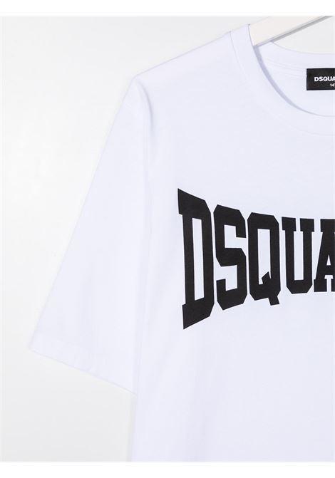 T-shirt bianca DSQUARED KIDS | T-SHIRT | DQ0156D002FTD2T633MDQ100