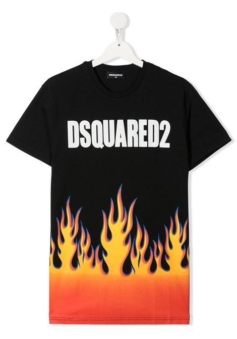 T-shirt nera DSQUARED KIDS | T-SHIRT | DQ0198D00XKTD2T652UDQ900