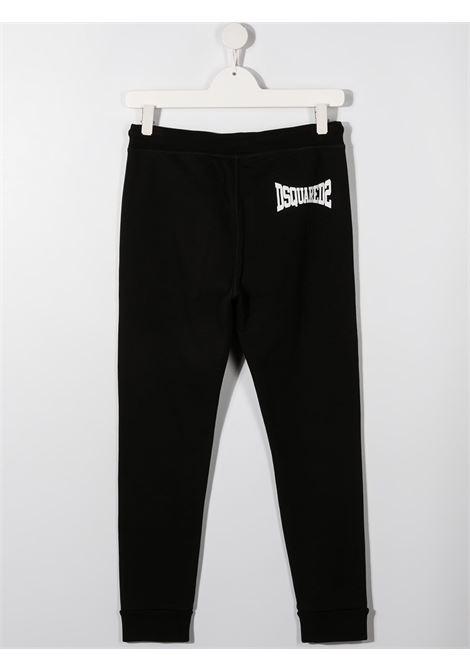 Pantalone nero DSQUARED KIDS | PANTALONI | DQ0212D002YTD2P338MDQ900