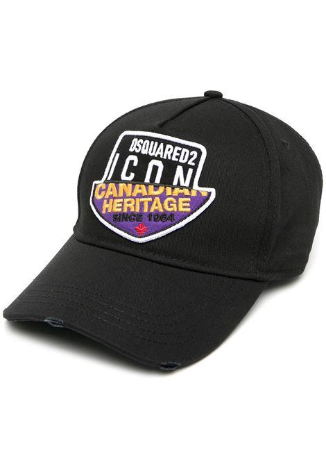 Cappello nero DSQUARED | CAPPELLI | BCM040605C000012124