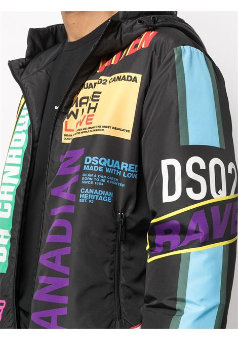 Black/milticolour padded jacket DSQUARED |  | S74AM1152S53816001S