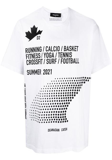 T-shirt bianca DSQUARED | T-SHIRT | S74GD0816S22427100