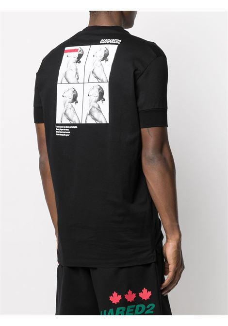 T-shirt nera DSQUARED | T-SHIRT | S79GC0026S23009900