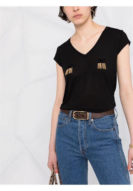 T-shirt nera ELISABETTA FRANCHI | T-SHIRT | MA19711E2110
