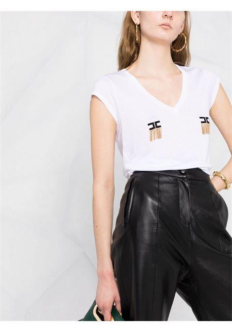 T-shirt bianca ELISABETTA FRANCHI | T-SHIRT | MA19711E2270