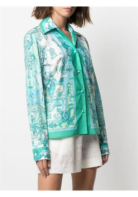Camicia verde ETRO | CAMICIE | 143264414500