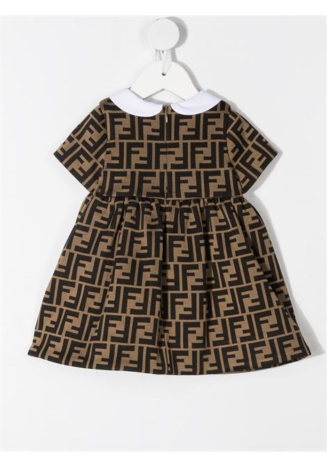 Brown/ black dress FENDI KIDS | DRESS | BFB340A6A6F0E0X
