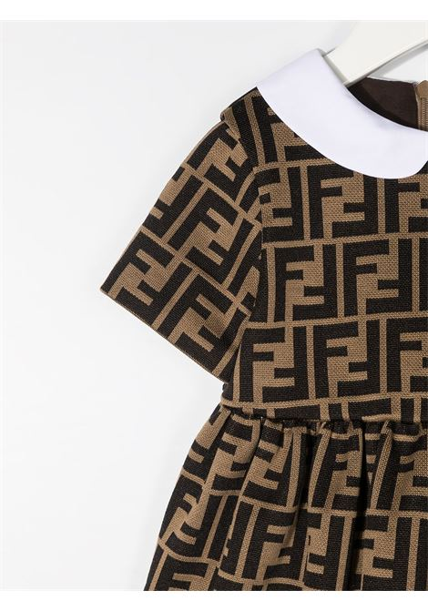 Brown/ black dress FENDI KIDS | DRESS | BFB340BA6A6F0E0X