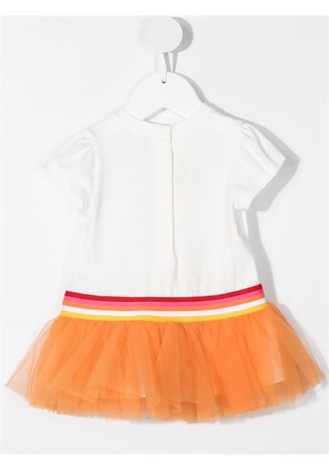 White/orange dress FENDI KIDS | DRESS | BFB361BAEY6F0TU9