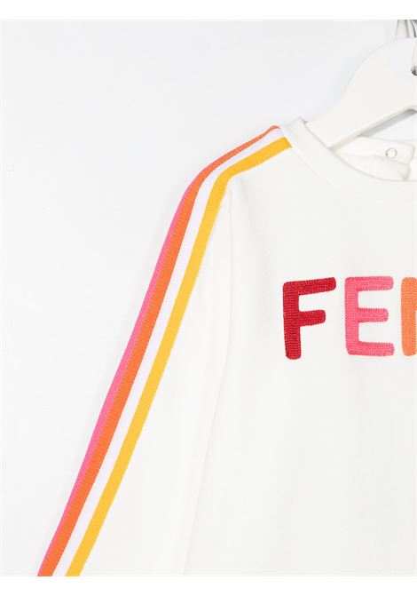 Felpa bianca FENDI KIDS | FELPE | BUH025B5V0F1DEQ