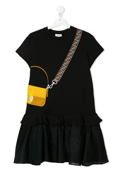 Black dress FENDI KIDS | DRESS | JFB382AEY0F0GME