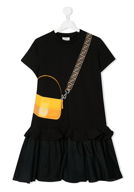 Black dress FENDI KIDS | DRESS | JFB382TAEY0F0GME