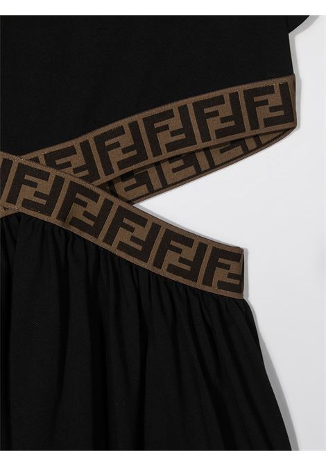 Black dress FENDI KIDS | DRESS | JFB443T7AJF0GME