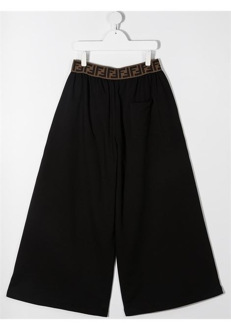 Pantalone nero FENDI KIDS | PANTALONI | JFF2215V0F0GME