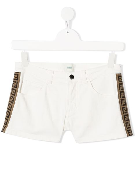 Shorts bianco FENDI KIDS | SHORTS | JFF224TAEXOF0ZNM
