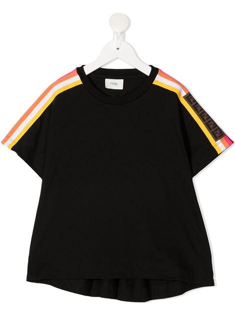 T-shirt nera FENDI KIDS | T-SHIRT | JFI2017AJF0GME