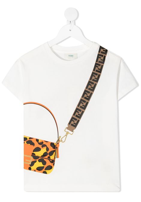 White t-shirt FENDI KIDS | T-SHIRT | JFI2237AJF0TU9