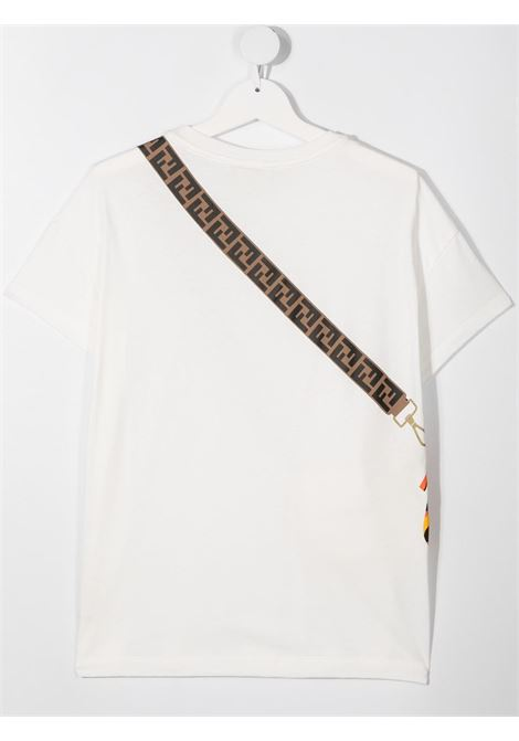 White t-shirt FENDI KIDS | T-SHIRT | JFI223T7AJF0TU9