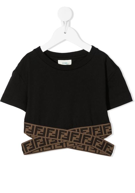 Top nero FENDI KIDS | TOP | JFI2277AJF0QA1