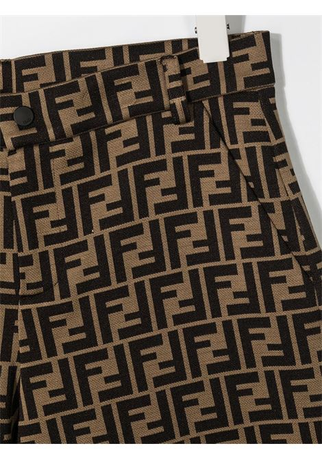 Shorts marrone FENDI KIDS | BERMUDA | JMF315TA6A6F0E0X