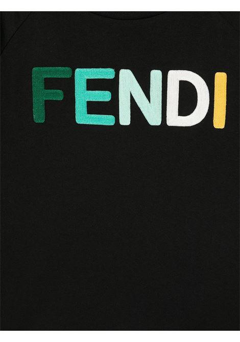 T-shirt nera FENDI KIDS | T-SHIRT | JUI0157AJF1DEM