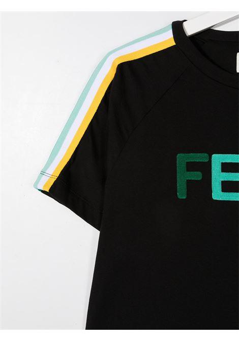 T-shirt nera FENDI KIDS | T-SHIRT | JUI015T7AJF1DEM
