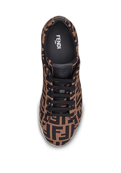 Sneakers marroni FENDI | SNEAKERS | 7E1258A7MYF0R7R