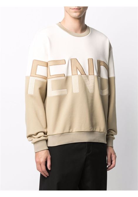 Beige/white sweatshirt FENDI | SWEATSHIRTS | FAF626A527F1DS8