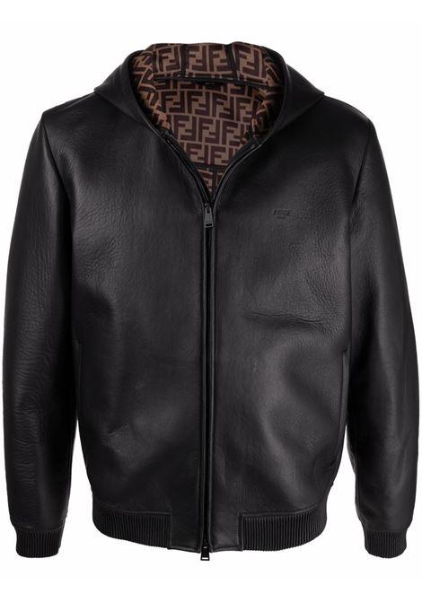 Black jacket FENDI | FPJ046A4C6F0QA1
