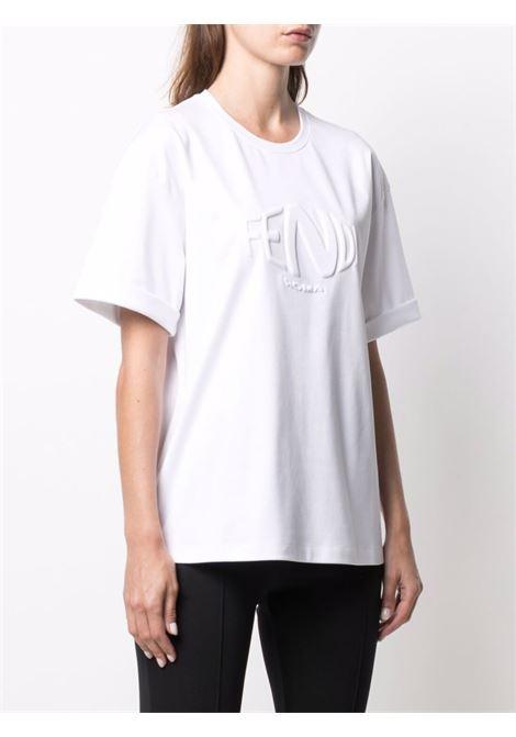 White t-shirt FENDI | T-SHIRT | FS7375AG78F0ZNM