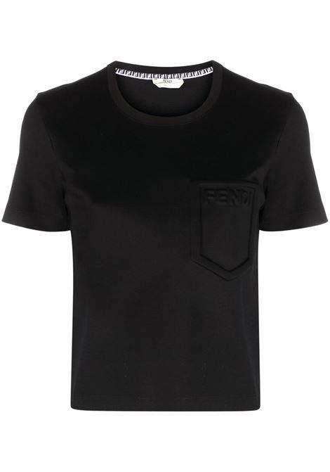 Black t-shirt FENDI | T-SHIRT | FS7389AFLDF0GME