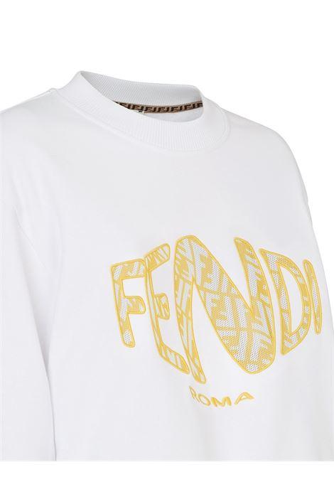White sweatshirt FENDI | SWEATSHIRTS | FS7461AG7CF0ZNM