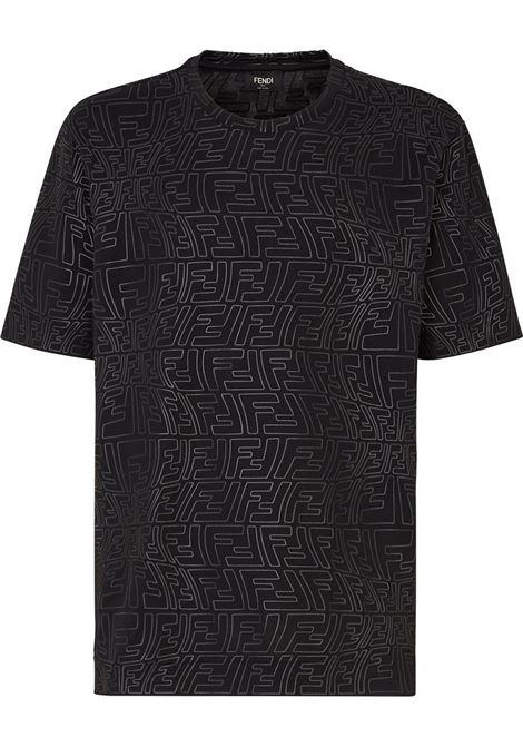 T-shirt nera FENDI | T-SHIRT | FY0936AGABF0QA1