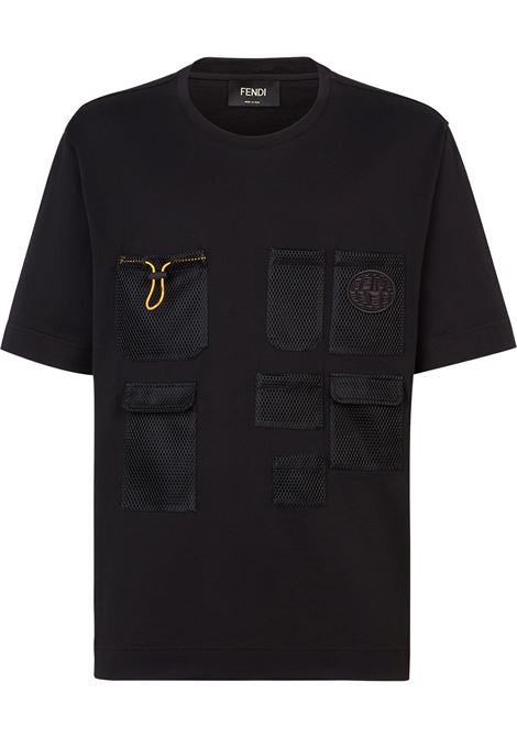 Black t-shirt FENDI | FY0936AGAIF0QA1