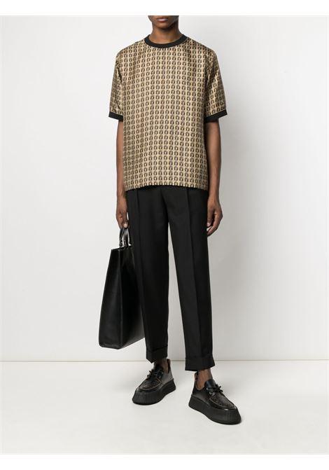 T-shirt nera/oro FENDI | T-SHIRT | FY1021AFROF0UNT