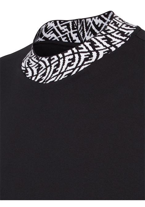 T-shirt nera FENDI | T-SHIRT | FY1088AGAKF0PA4