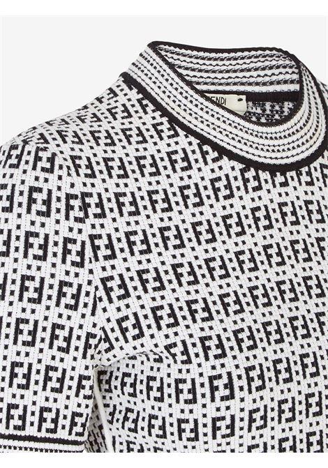 White/black dress FENDI | JERSEYS | FZX649AF4UF0ZNM
