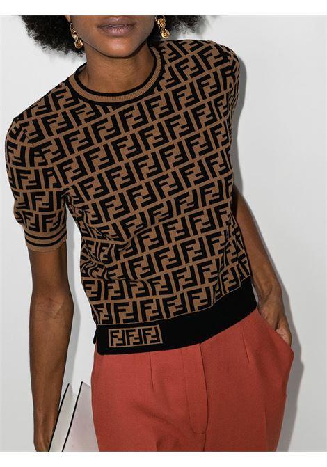 Brown jumper FENDI | JERSEYS | FZY702A5QGF118W