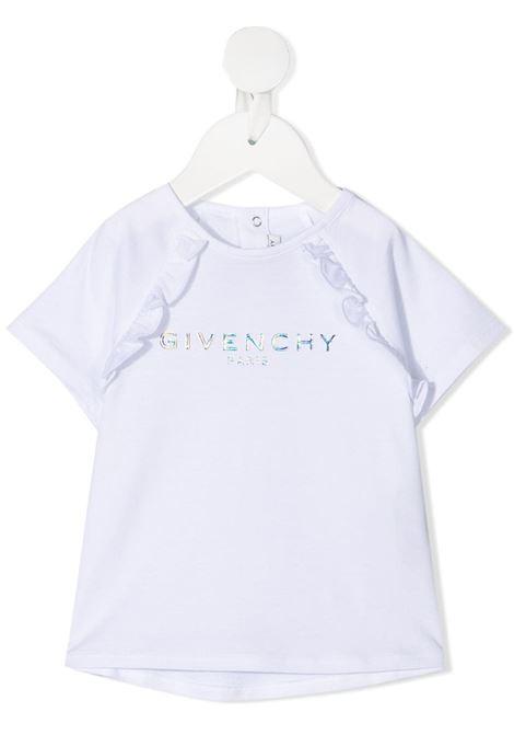 T-shirt bianca GIVENCHY KIDS   T-SHIRT   H0516810B