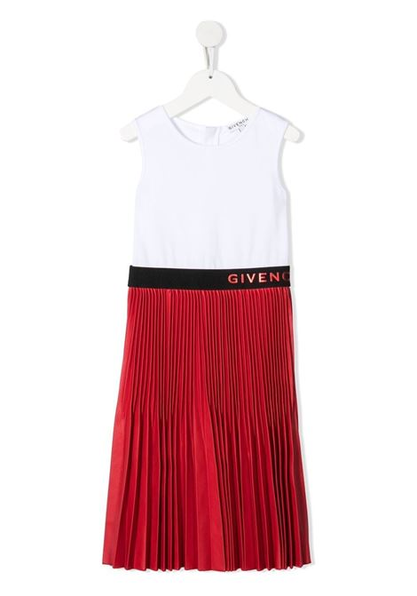 White/red dress GIVENCHY KIDS | DRESS | H12153N79