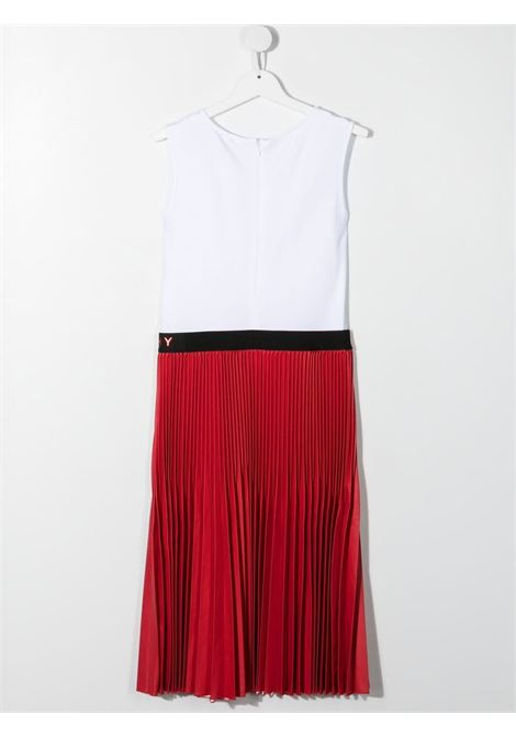 White/red dress GIVENCHY KIDS | DRESS | H12153TN79